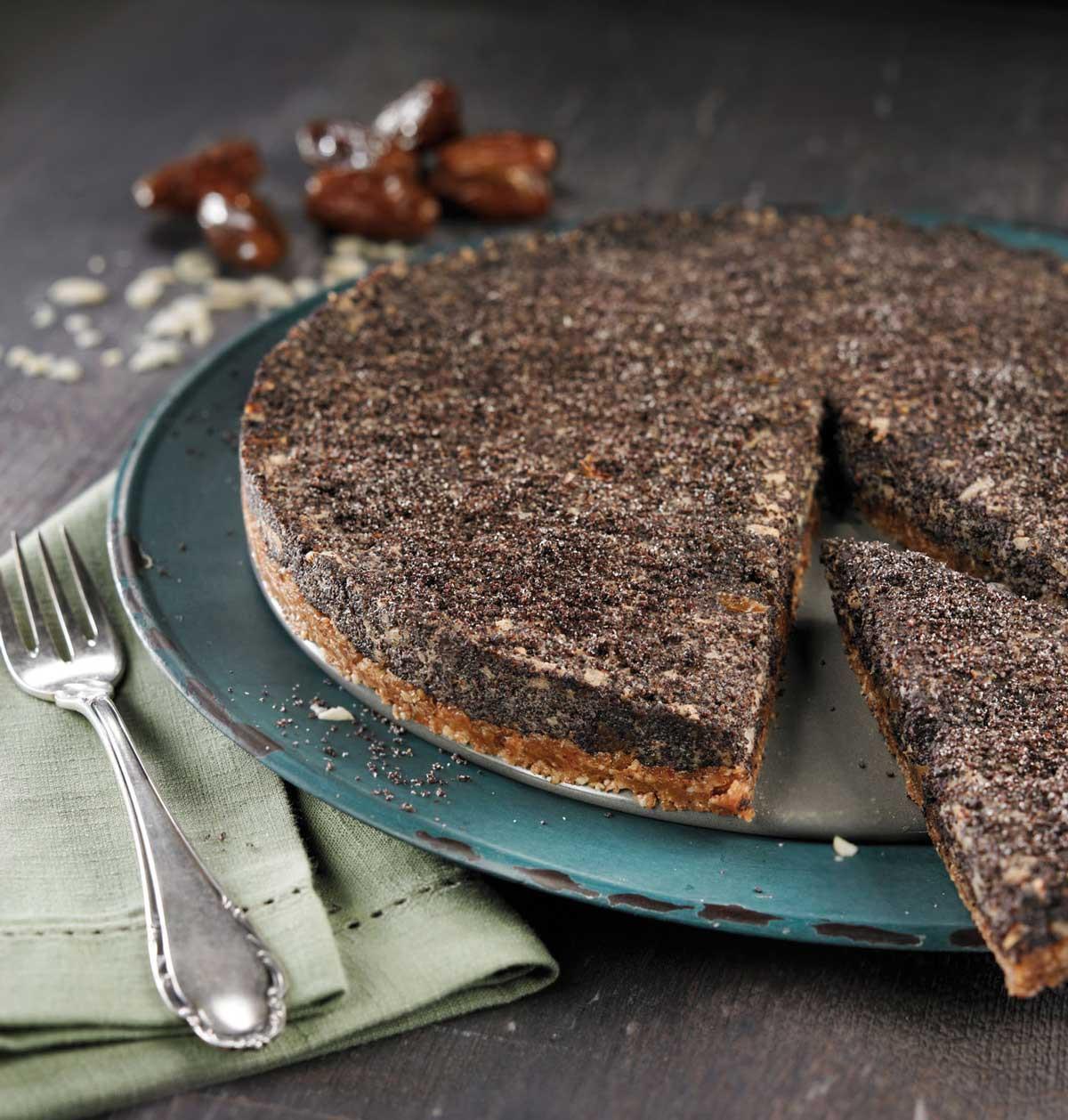 Raw makový koláč