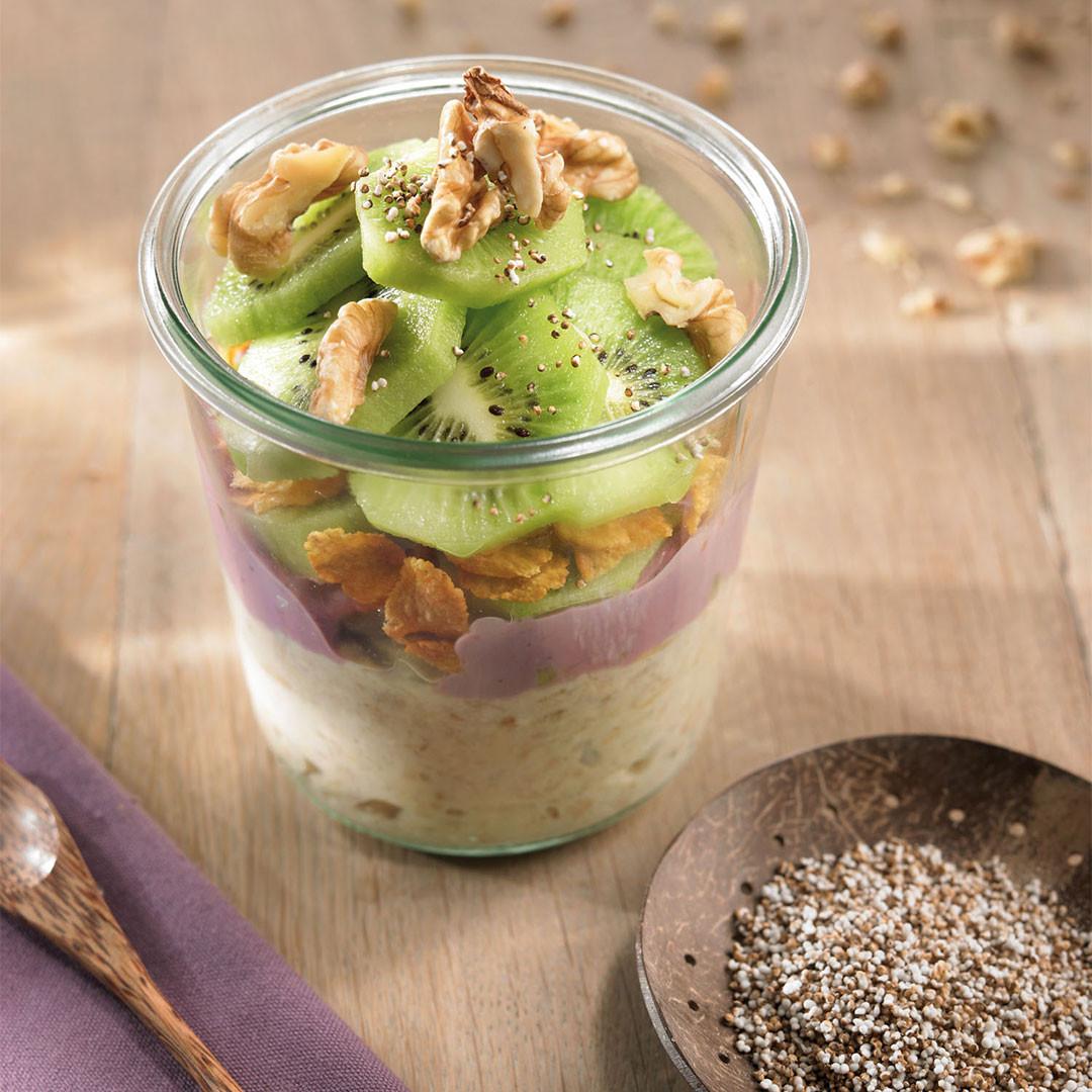 Amarantový jogurt s kiwi